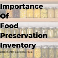 Importance Of Food Preservation Inventory