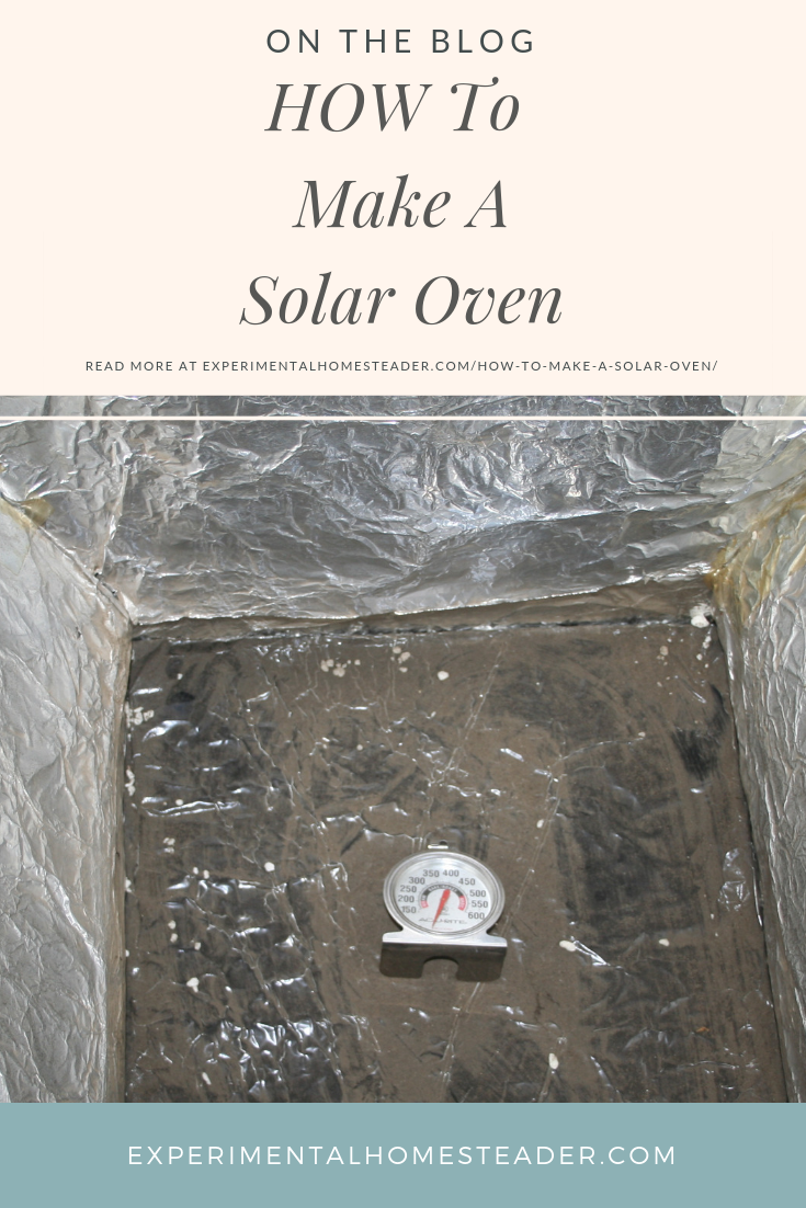 Learn how to make a solar oven out of cardboard boxes and other items you might already have on hand, plus get a few quick tips so you can use it!