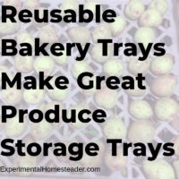Reusable Bakery Trays Make Great Produce Storage Trays