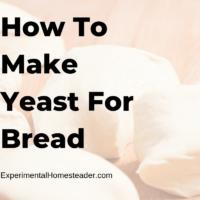 How To Make Yeast For Bread