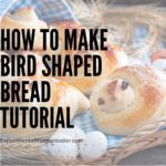 Finished bird shaped bread.