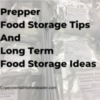 Prepper Food Storage Tips And Long Term Food Storage Ideas