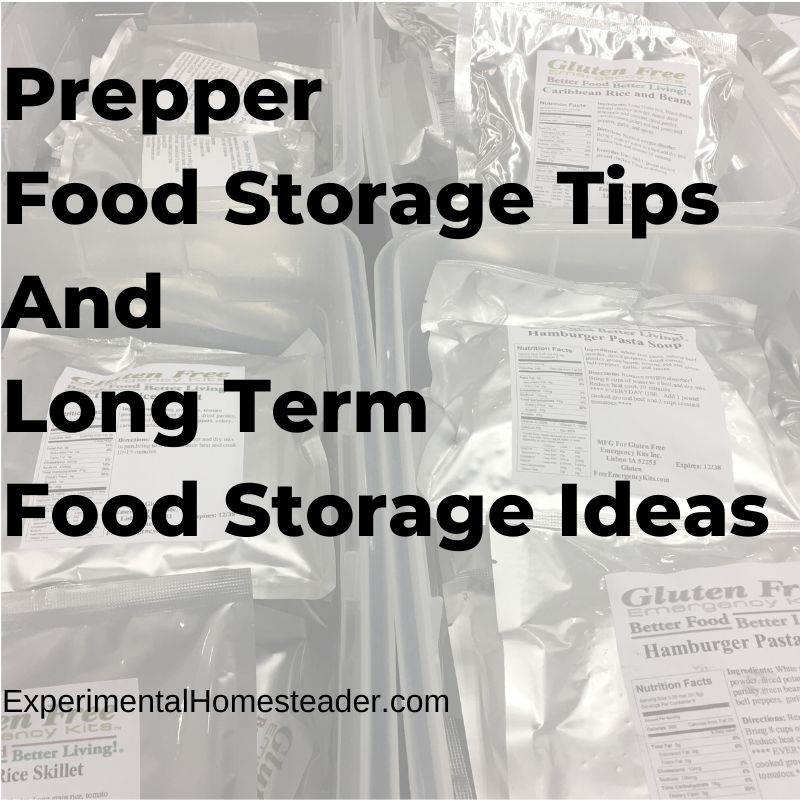 Food in mylar bags.