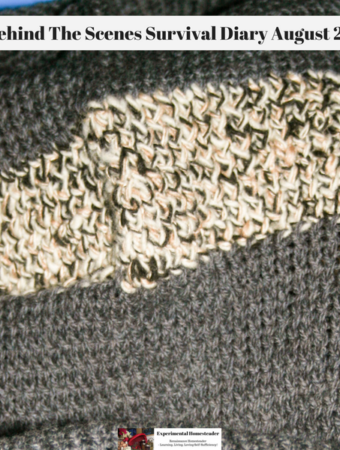 A wool blanket made on a Knifty Knitter Loom.