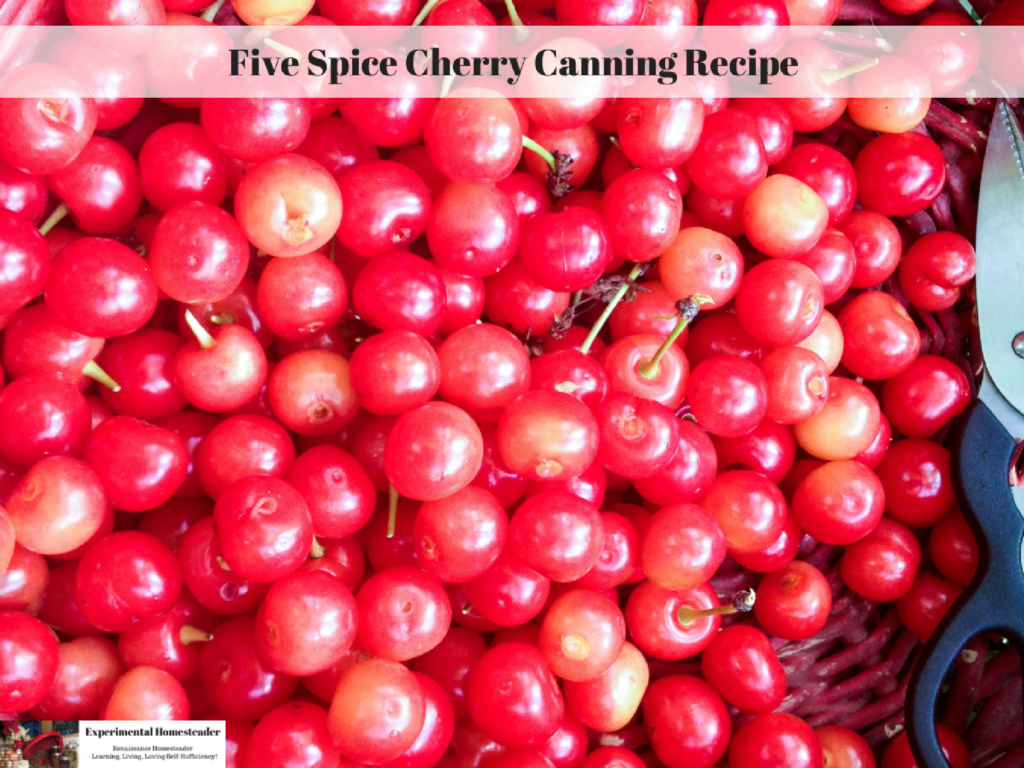 Five Spice Cherry Canning Recipe