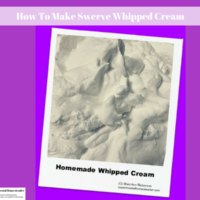 How To Make Swerve Whipped Cream