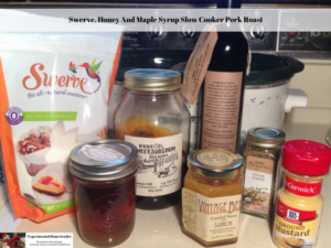 Swerve, Honey And Maple Syrup Slow Cooker Pork Roast