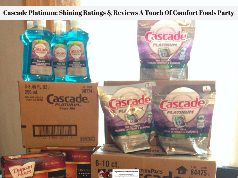 Cascade Platinum: Shining Ratings & Reviews A Touch Of Comfort Foods Party