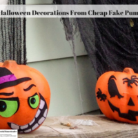 Easy Halloween Decorations From Cheap Fake Pumpkins