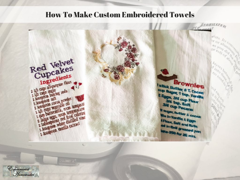 How To Make Custom Embroidered Towels