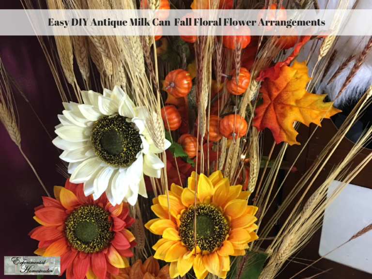 A fall flower arrangement.