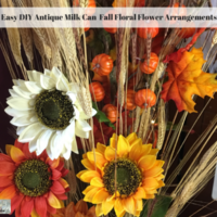 Easy DIY Antique Milk Can  Fall Floral Flower Arrangements