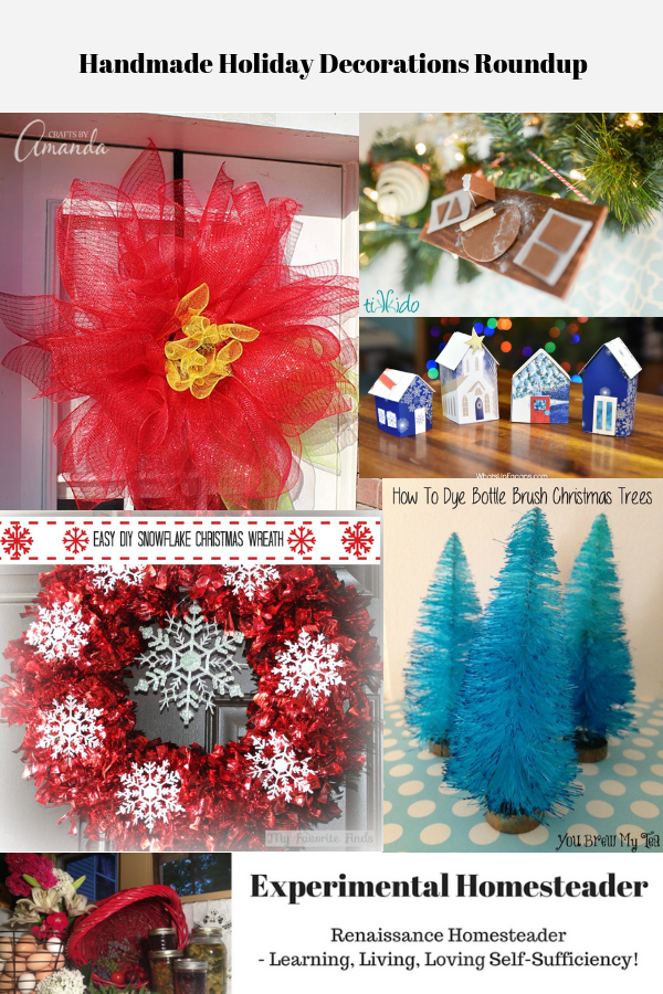Handmade Holiday decoarations.