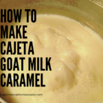 Goat milk boiling to make this easy cajeta goat milk caramel recipe.