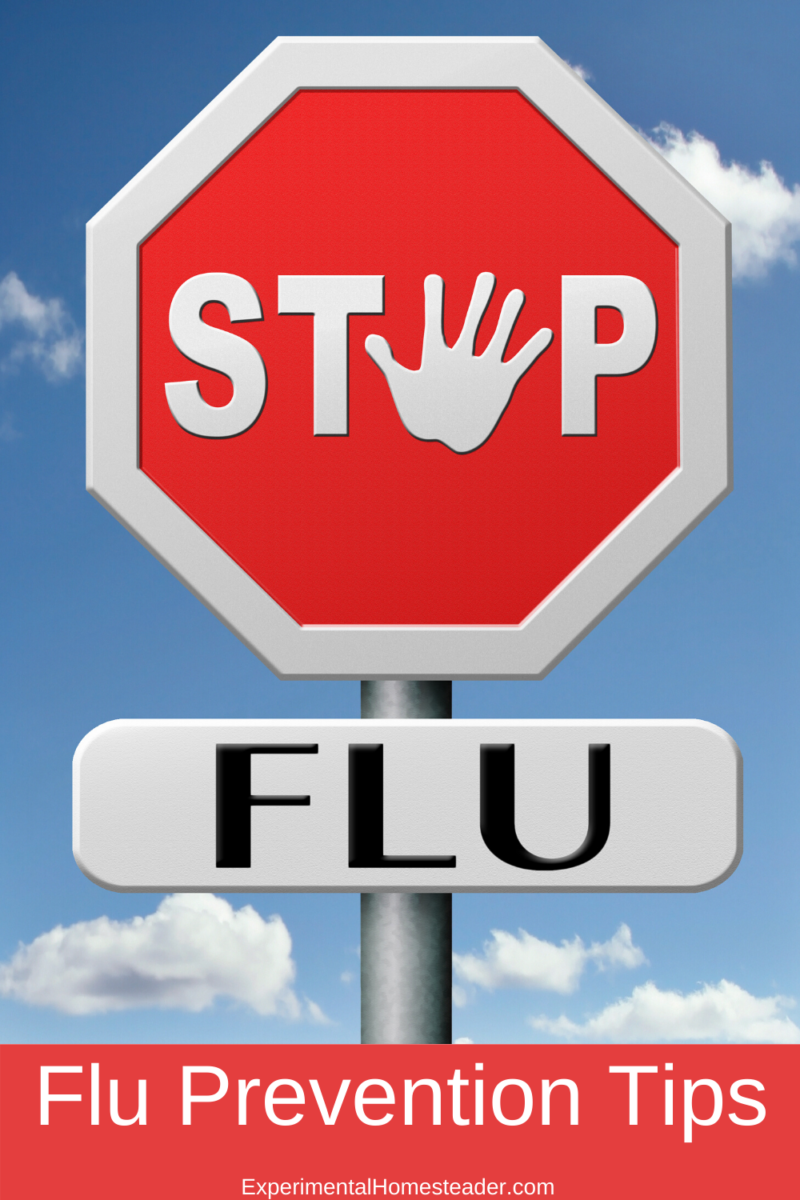 A stop sign that says Stop Flu.