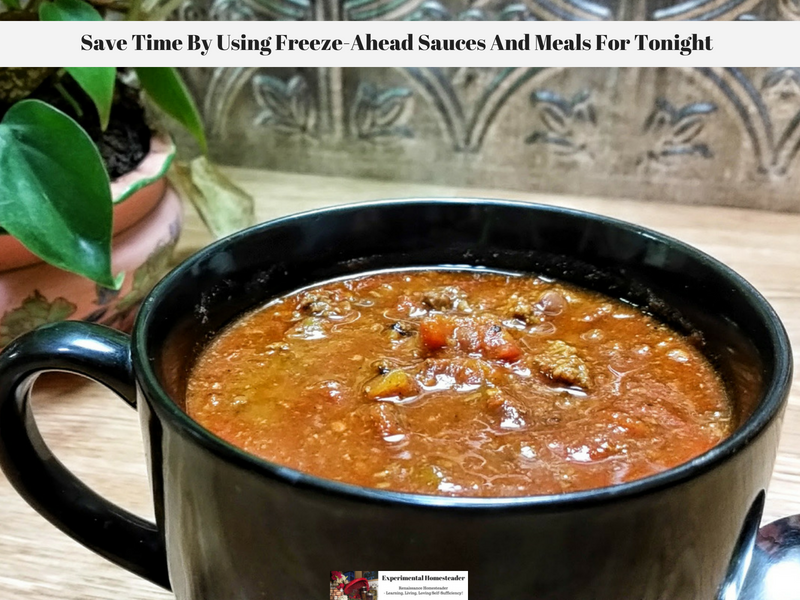 Save Time By Using Freeze-Ahead Sauces And Meals For Tonight