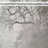 4 Essential Winter Storm Survival Preparedness Tips
