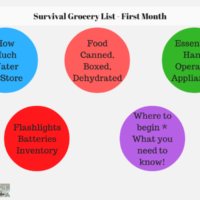 Survival Grocery List - First Month