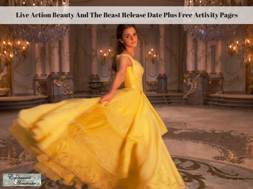 Live Action Beauty And The Beast Release Date Plus Free Activity Pages
