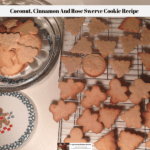The baked Swerve cookie recipe cooking on a wire rack with some of the cooled cookies resting on a cake plate waiting to be decorated.