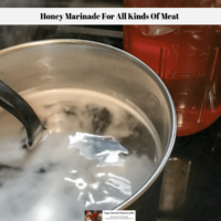 Honey Marinade For All Kinds Of Meat
