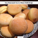 Homemade Swerve Dinner Rolls on a plate ready to eat.