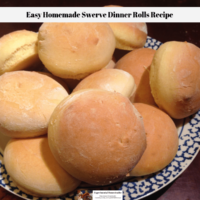 Easy Homemade Swerve Dinner Rolls Recipe