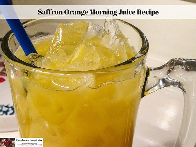 Saffron Orange Morning Juice Recipe