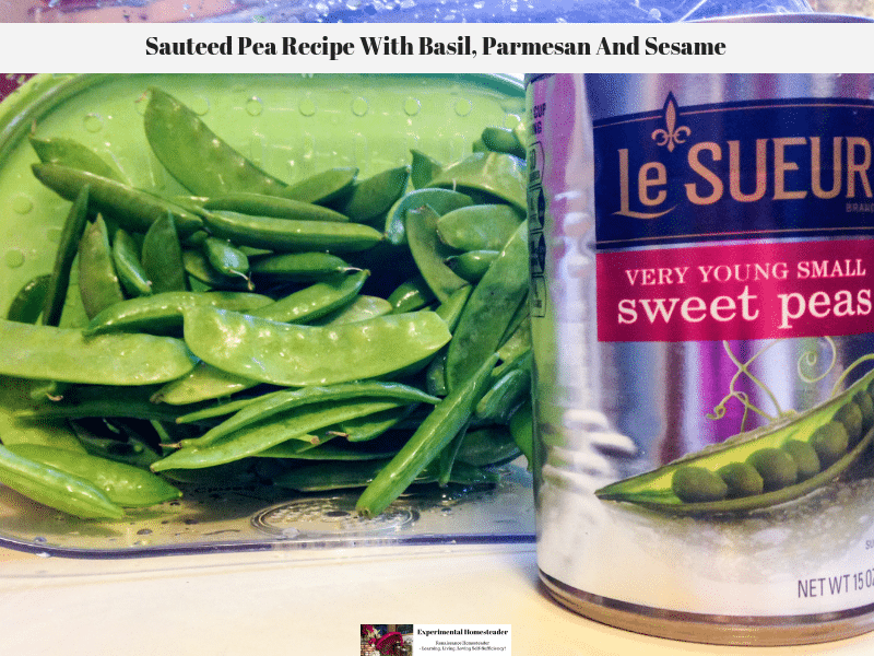 Sauteed Pea Recipe With Basil, Parmesan And Sesame