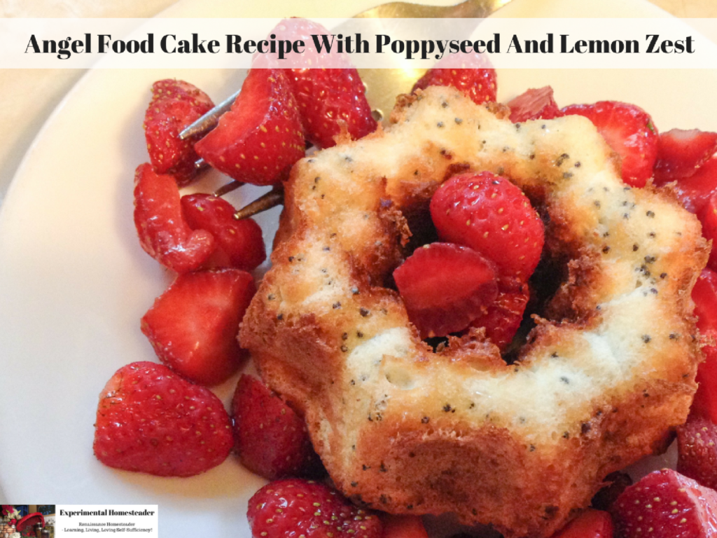 Angel Food Cake Recipe With Poppyseed And Lemon Zest