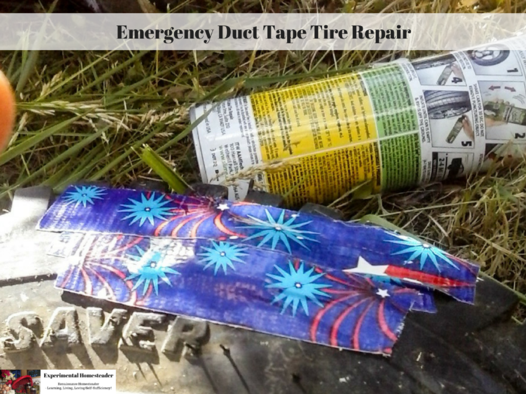 how to patch an inner tube with duct tape