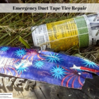 Emergency Duct Tape Tire Repair