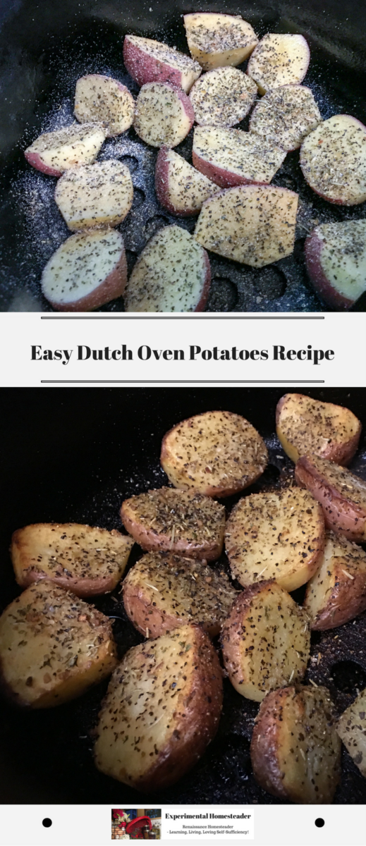The top photo shows the potatoes before being cooked. The bottom photo shows the potatoes after being cooked.