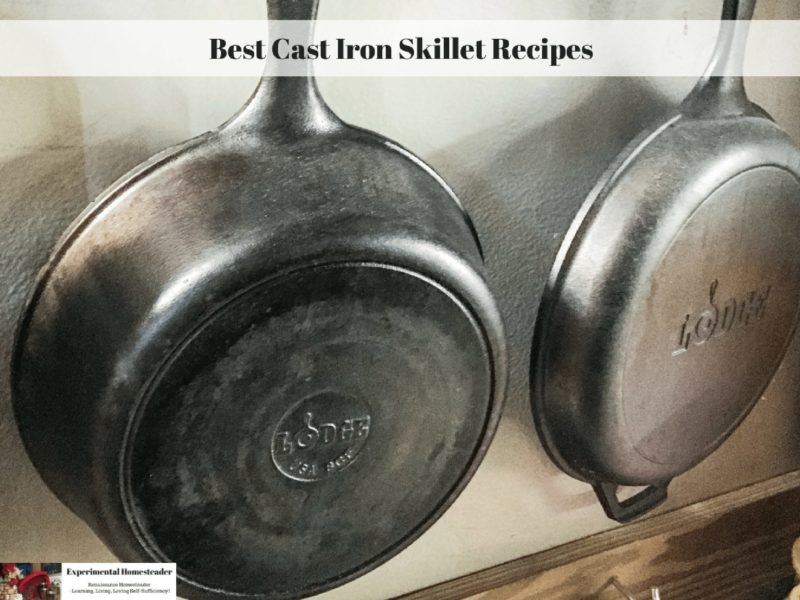 Cast Iron skillets hanging on a wall.