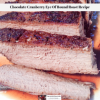 Chocolate Cranberry Eye Of Round Roast Recipe