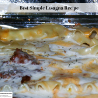 Best Simple Lasagna Recipe