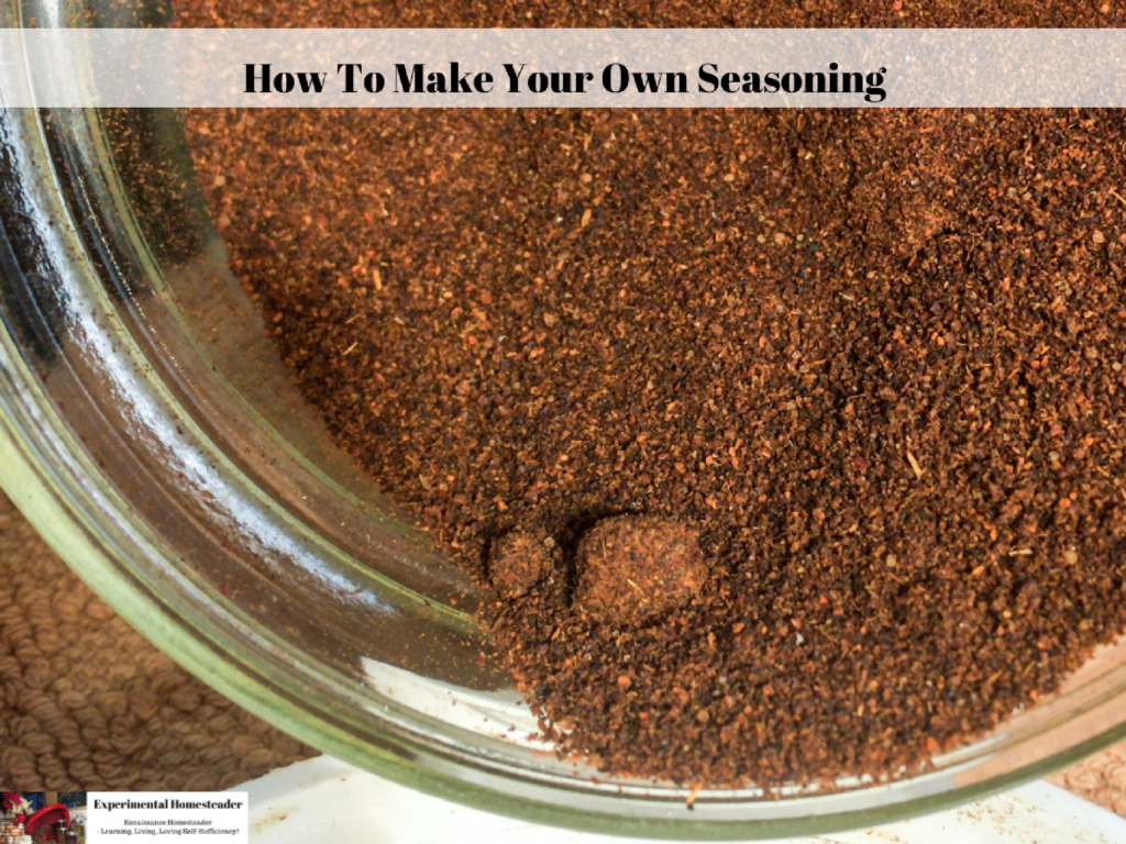 Ground seasoning mix in a canning jar.