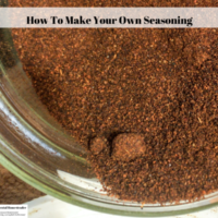 How To Make Your Own Seasoning Blends