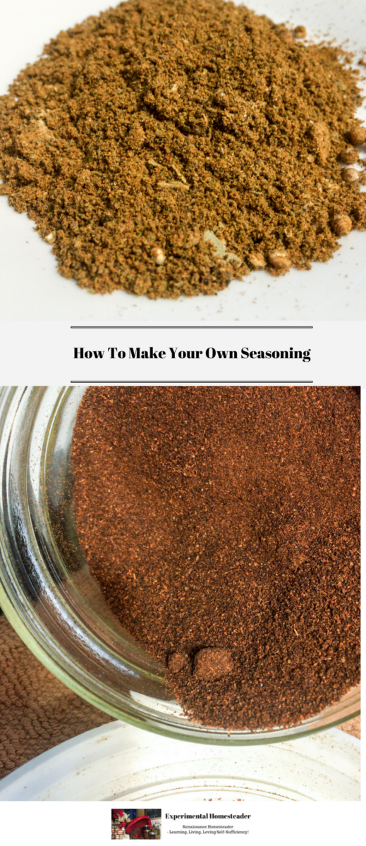 Two of the seasoning blends in the recipes in this post.