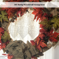 DIY Burlap Wreath Fall Arrangement