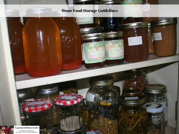 Home Food Storage Guidelines