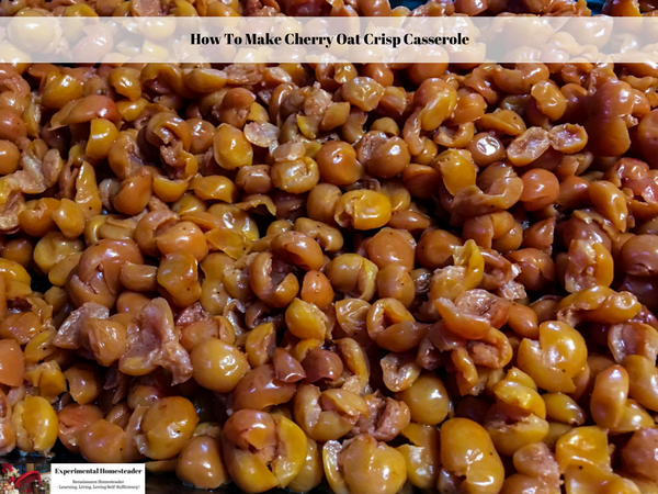 How To Make Cherry Oat Crisp Casserole