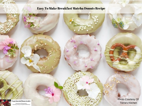 Easy To Make Breakfast Matcha Donuts Recipe