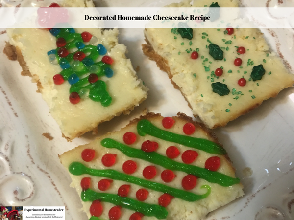 Decorated cheesecake slices on a plate.