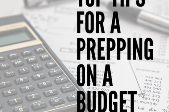 A calculator and a budget on paper.