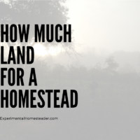 How Much Land For A Homestead