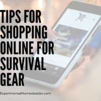 Tips For Shopping Online For Survival Gear