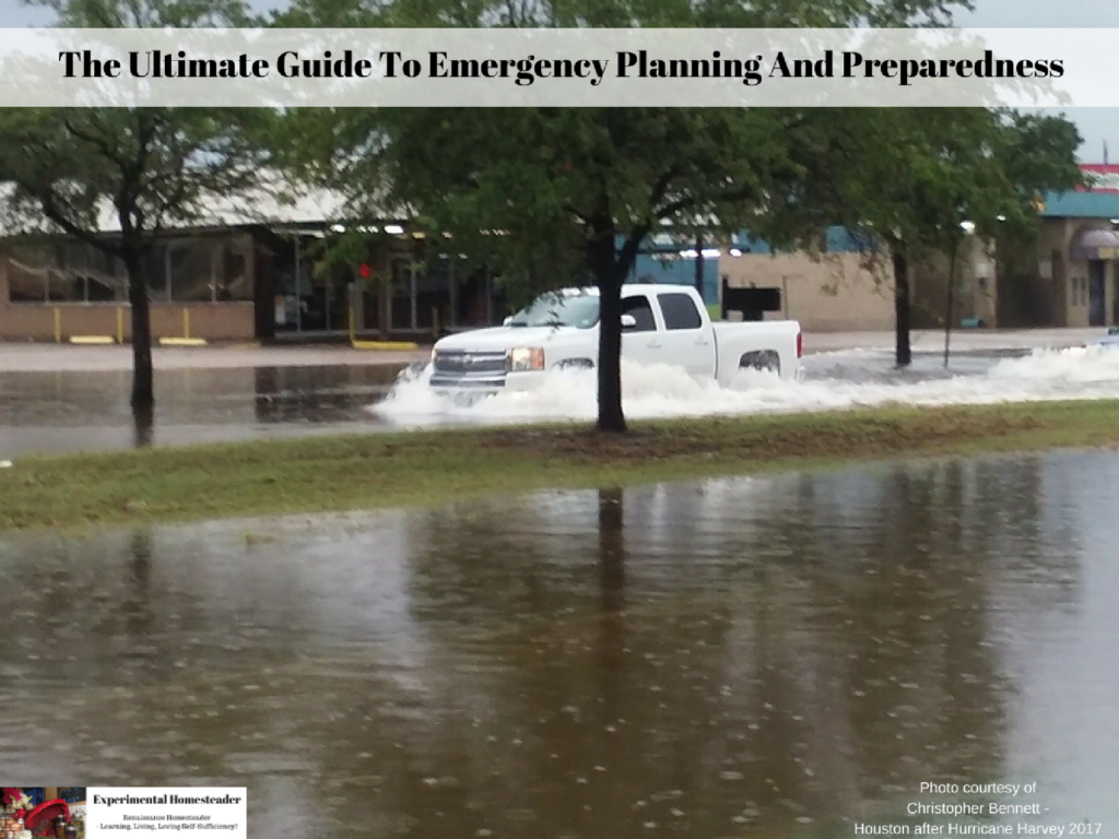 A flood and a hurricane are just two reasons everyone needs to work on their emergency planning and preparedness.