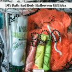 An acrylic Craft Block filled with bath and body products.