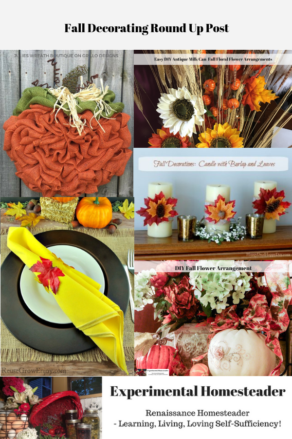 Various handmade fall decoration ideas.